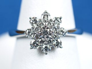 フラワー リング ダイヤモンド プラチナ