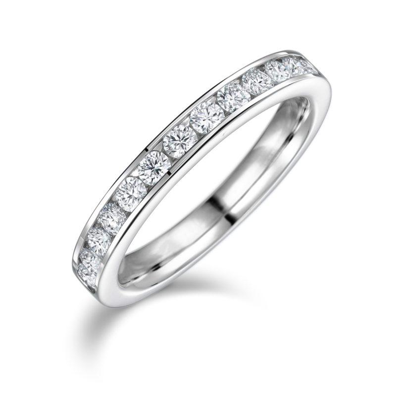 エタニティリング 0.38ctダイヤモンド プラチナ