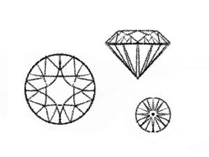 ダイヤモンドのカットのイラスト