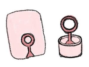 鋳造で指輪を作る過程のイラスト