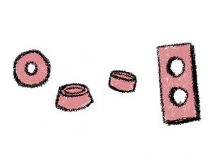 鍛造で指輪を作る過程のイラスト