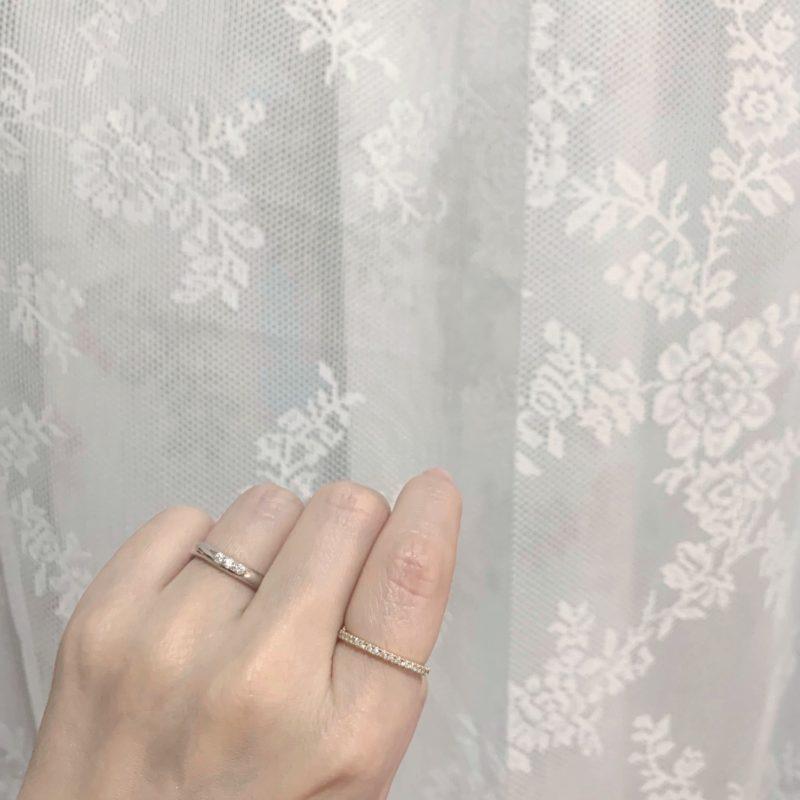 結婚指輪No6 Diamond 0.08ct プラチナ(幅3.0mm / Pt950)