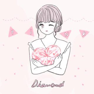 かわいいピンクダイヤモンドのイラスト