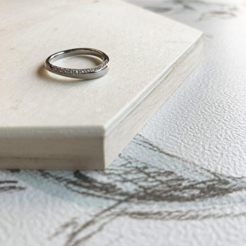 結婚指輪No4 Diamond 0.18ct プラチナ(幅2.5mm / Pt950)