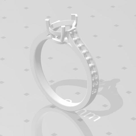 オーダーメイド ペアシェイプ 1カラット 指輪