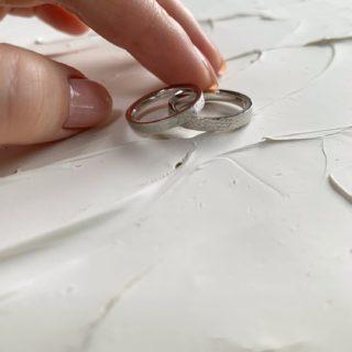 結婚指輪No2 ハンマー・槌目