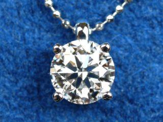 1カラット ソリティア ダイヤモンド ペンダント