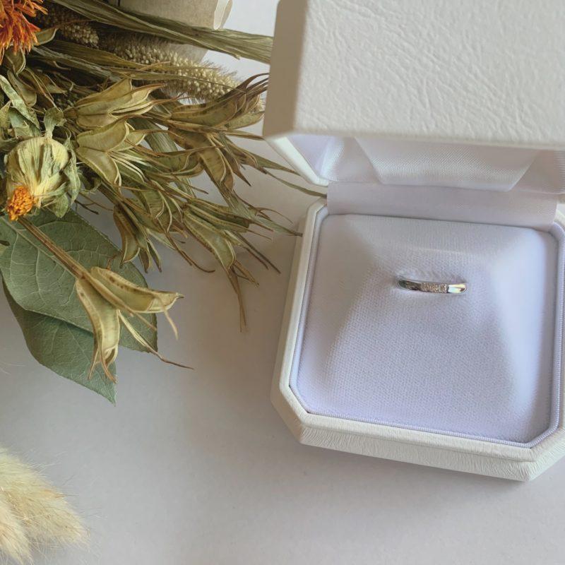 結婚指輪No1 3Diamond 0.08ct プラチナ(幅3.0mm / Pt950)