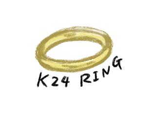 純金の指輪のイラスト