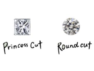 プリンセスカットとラウンドカット