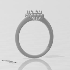 エメラルドカット 指輪 ブランド 0.7カラット