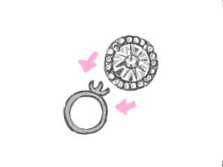 豪華だけど安っぽいダイヤの指輪のイラスト