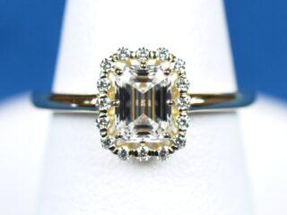 愛の巣の指輪 Bird エメラルドカットの指輪 0.78ct D VS1