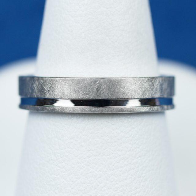 鍛造 結婚指輪 アイスマット 加工