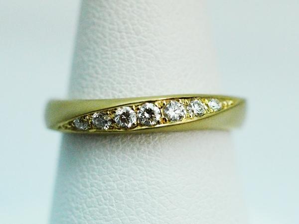 ゴールド マット加工 結婚指輪