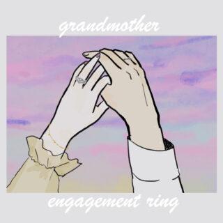 婚約指輪をしている女性と結婚指輪をしている男性のイラスト