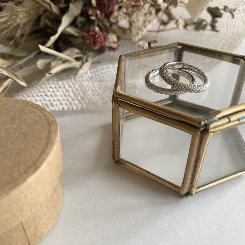 新作 Sun Pave Diamond Ring 合計0.60ct(幅2.8mm)