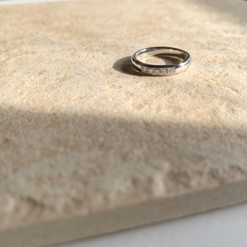 結婚指輪No1 5Diamond 0.14ct プラチナ(幅3.0mm / Pt950)