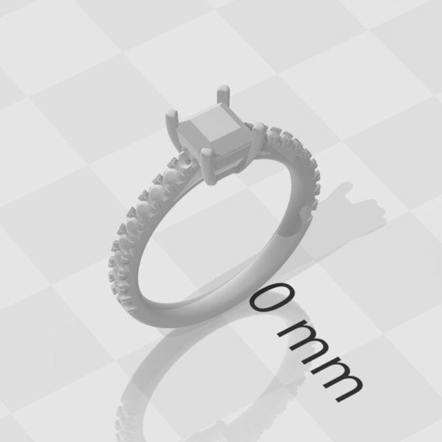 プリンセスカット オーダーメイド 指輪